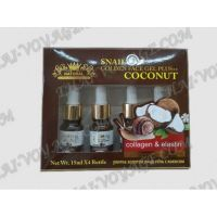 Snail serum with collagen, elastin and coconut oil - TV000113