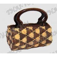 يدويا حقيبة من مقابض خشبية جوز الهند - TV000281