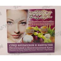 Tightening cream for face and neck with mangosteen extract and collagen Darawadee - TV000348