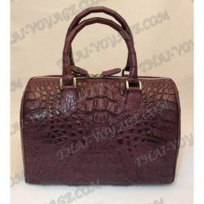 "Sac crocodile en cuir dames ""Keg"" - TV000379"