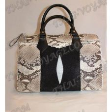 Bag female from leather python and stingray - TV000462