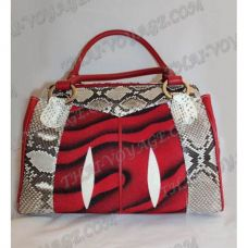 Bag female from leather python and stingray - TV000466