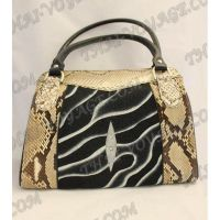 Bag Damen Leder python und Stingray - TV000468