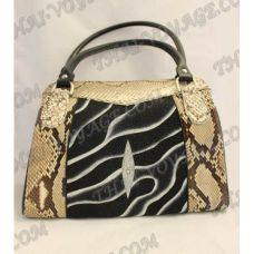 Bag female from leather python and stingray - TV000468