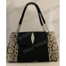 Bag female from leather python and stingray - TV000499