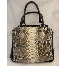 Bag female from leather python - TV000526
