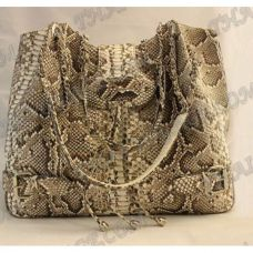 Bag female from leather python - TV000531
