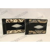 Clip notes stingray leather and python - TV000532