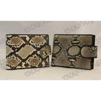 Purse male python leather - TV000534