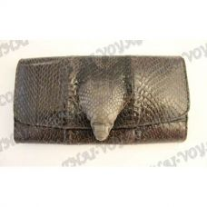 Purse female from leather cobra with head cobra - TV000545