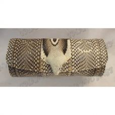 Clutch female from leather cobra with head cobra - TV000550