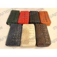 Portafoglio di pelle di coccodrillo - TV000553