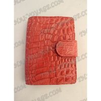Business card holder from leather crocodile - TV000560