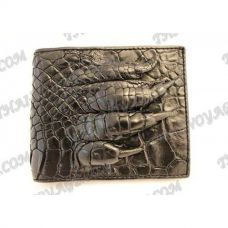 Purse mâle crocodile peau de crocodile avec patte - TV000567