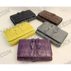 محفظة جلد المرأة التمساح - TV000571
