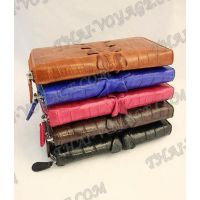 Portefeuille femme en cuir de crocodile - TV000576