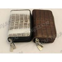 Purse for coins and keys from crocodile leather - TV000582