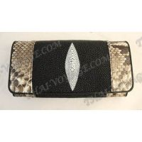 Purse female stingray leather and python - TV000583