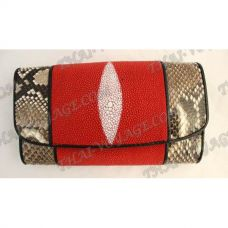 Purse female stingray leather and python - TV000592