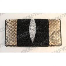 Purse female stingray leather and python - TV000630