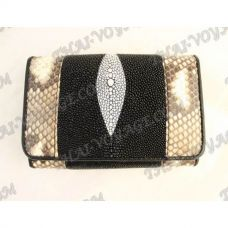 Purse female stingray leather and python - TV000643