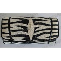 "Borsa da donna in pelle stingray ""Zebra"" - TV000690"
