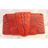 Frizione femminile pelle di coccodrillo - TV000717