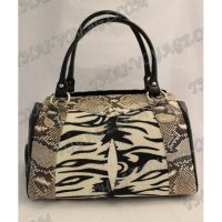 Bag ladies from leather python and stingray - TV000721