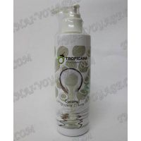 Organic coconut cream-shower gel without parabens Tropicana - TV000746