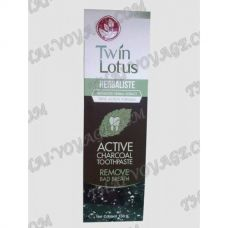 Thai Herbal Toothpaste Twin Lotus-based charcoal - TV000749