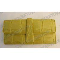 Portefeuille femme en cuir de crocodile - TV000779