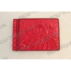 Clip banknotes crocodile leather - TV000785
