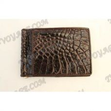 Clip banknotes crocodile leather - TV000787