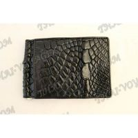 Clip banknotes crocodile leather - TV000788