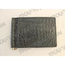 Clip banknotes crocodile leather - TV000789
