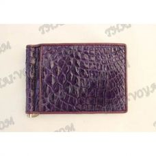Clip banknotes crocodile leather - TV000790