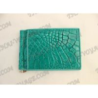 Clip banknotes crocodile leather - TV000792