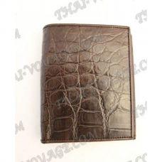 Бумажник мужской из кожи крокодила - TV000793