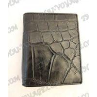 Porte-monnaie mâle peau de crocodile - TV000794