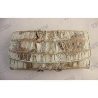 Portefeuille femme en cuir de crocodile - TV000813