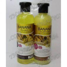 Shampoo und Haarbalsam mit einem Extrakt aus Banane - TV000887