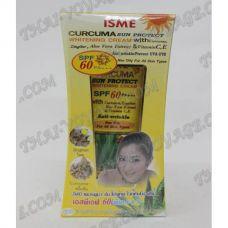Crème de blanchiment Sun avec le curcuma, le gingembre et l'aloe vera SPF 60 Isme - TV001003