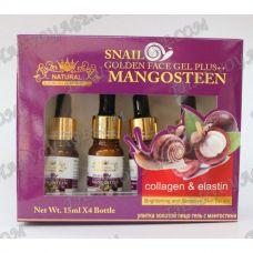 Улиточная сыворотка с коллагеном, эластином и экстрактом мангостина - TV001172