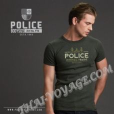 Мужская футболка Police Art No.FT6 Top Dyed Collection - TV001298