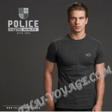 Herren T-shirt Police Art.FT5 Top Gefärbt Sammlung - TV001299
