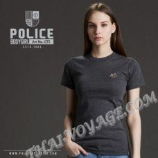 Damen T-shirt Police Art. GT5 Top Gefärbt Sammlung - TV001302