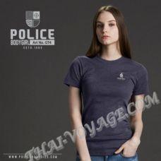 Damen T-shirt Police Art. GT4 Top Gefärbt Sammlung - TV001303