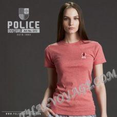 Damen T-shirt Police Art. GT2 Top Gefärbt Sammlung - TV001305