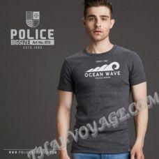 Мужская футболка Police Art No.BT6 Top Dyed Collection - TV001315