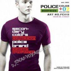 Мужская футболка Police Art No.FC013 Color Collection - TV001335
